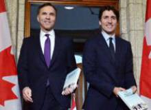 Minister Morneau and Justin Trudeau Budget 2018